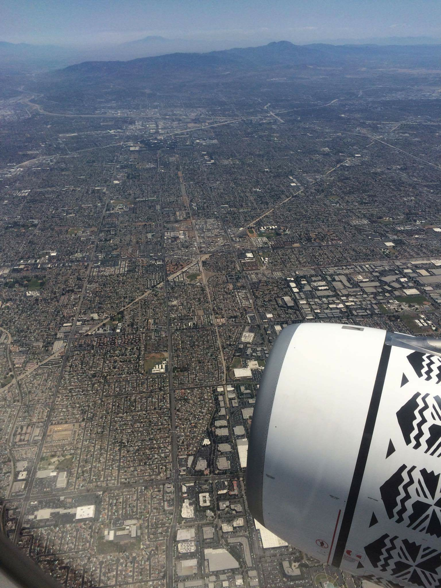 LA from the sky